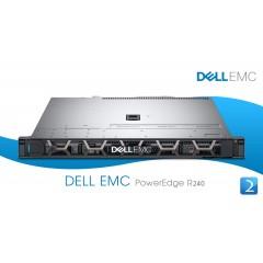 "Dell PowerEdge R240 Rack Server ---- Xeon® E- 2134, 64GB (4 x 16GB),  4 x 10TB SATA 7.200 RPM, 6GBs 3.5"" (Hot Plug) (40TB), 1 x 250W, PERC H330 RAID,  DELL 5 YEARS NEXT BUSINESS DAY ON SITE SUPPORT  ( 11AO5N25NX2)"