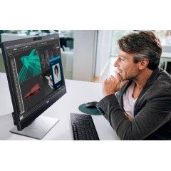 """Dell 24"""" Video Conferencing Monitor : P2418HZM - 16:9 Aspect, FHD 1920 x 1080, 2.1MP Cam + Mic, 60Hz Refresh, Contrast 1000:1, Pitch 0.28, Brightness 250 cd/m2, Response 6ms, 11ao91R6BB3"""